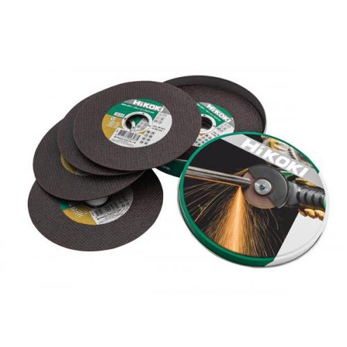 Диск відрізний 125х1,0х22,2 мм (металева банка 10 одиниць) по чорним металам та нержавіючій сталі Hikoki  782304