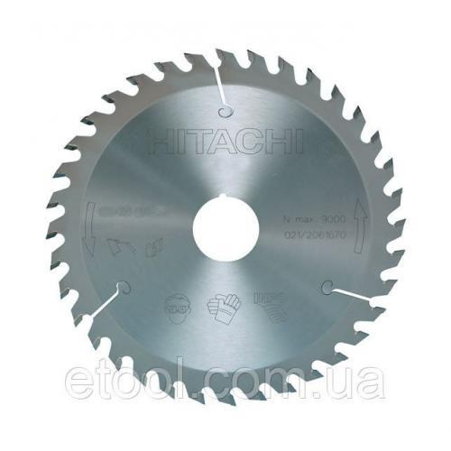 Диск пиляльний 185х30 по дереву 36 зуб для циркулярних пилок Hitachi / HiKOKI 752432