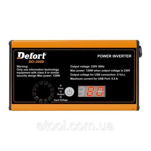 Інвертор автомобільний Defort DCI-300D