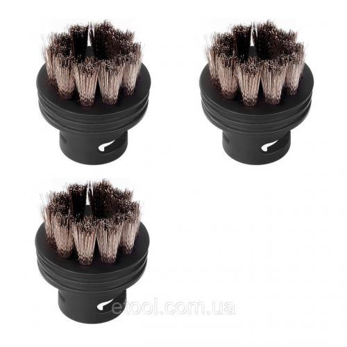 Набір аксесуарів для пароочисника Round Brush Set (3 од. - мала кругла щітка-насадка з метав. щетиною)