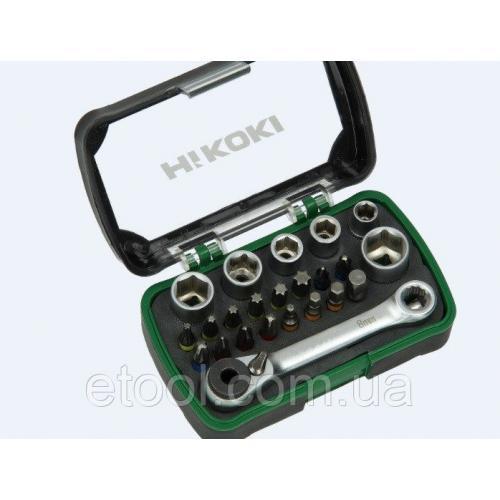 """Набір біт та торцьових головок 24 одиниці 1/4"""" Hitachi / HiKOKI 750362"""